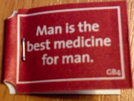 Man is the best medicine for man