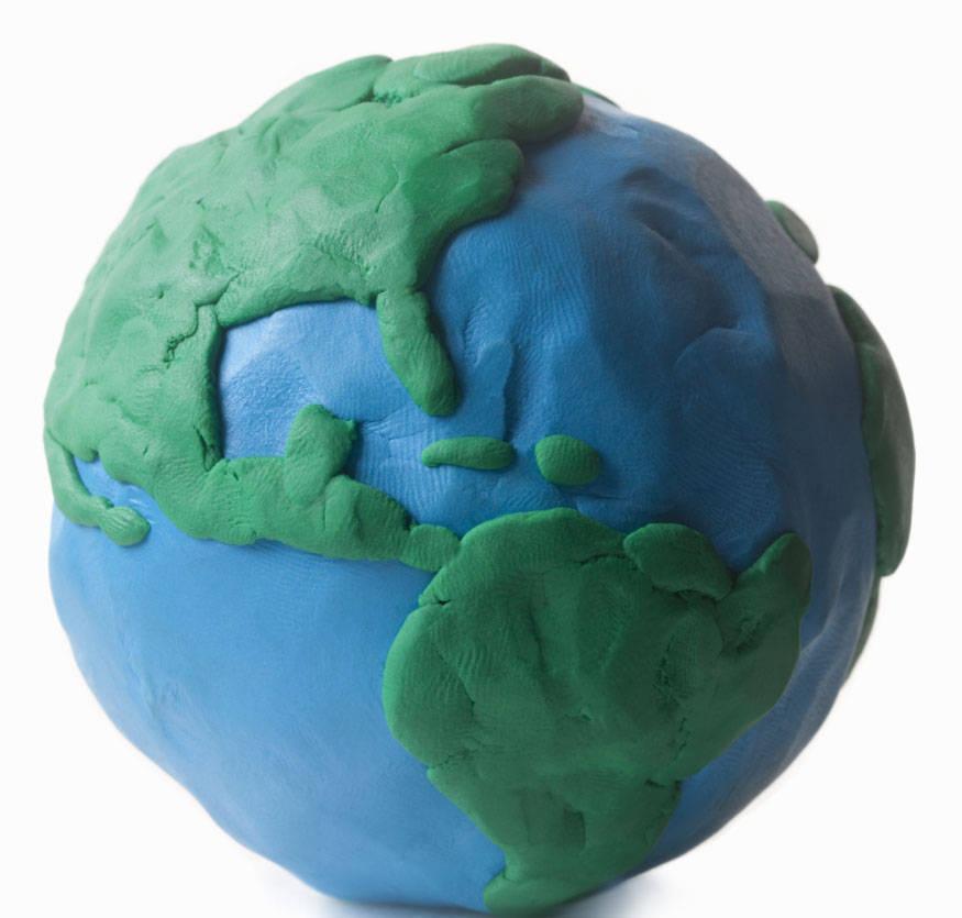 gekleide aarde